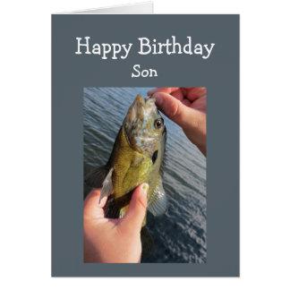 Fiska humorSonfödelsedag för att skräddarsy Hälsningskort