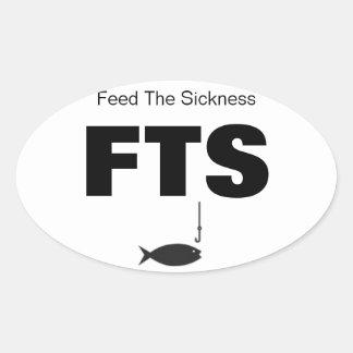 FISKA matning sjukdomen Ovalt Klistermärke