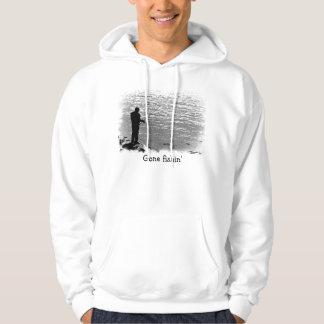 Fiska på sjön sweatshirt med luva