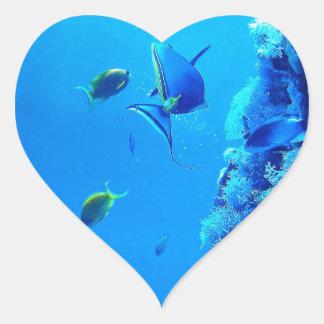 Fiskar Hjärtformat Klistermärke