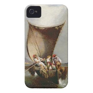 Fiskare familj (olja på kanfas) iPhone 4 Case-Mate fodraler