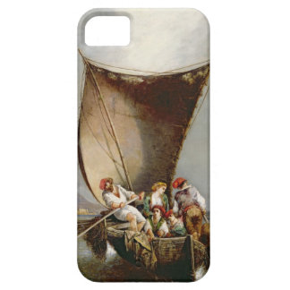 Fiskare familj (olja på kanfas) iPhone 5 Case-Mate skydd