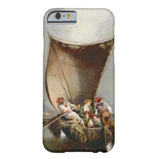 Fiskare familj (olja på kanfas) barely there iPhone 6 fodral