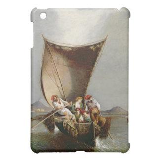 Fiskare familj (olja på kanfas) iPad mini mobil skal