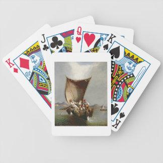 Fiskare familj (olja på kanfas) spel kort