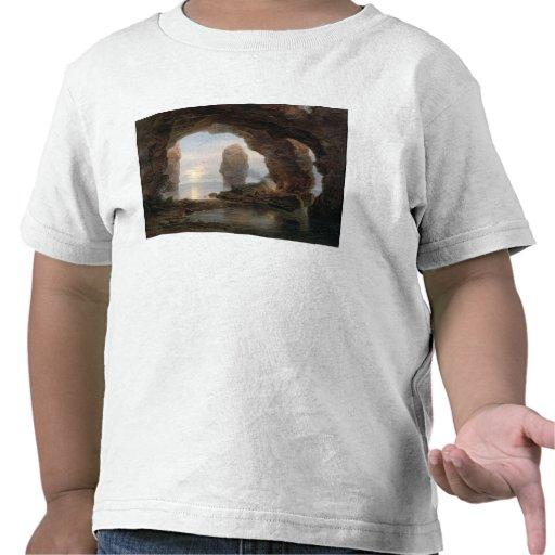 Fiskare i en Grotto, Helgoland, 1850 (olja kan på T-shirts