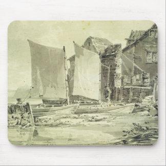 Fiskare stuga, Dover, 1790s (rita & grå färg w Musmatta