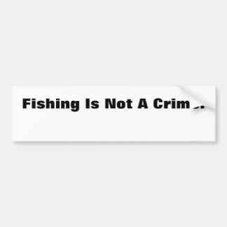 Fiske är inte ett brott! bildekal