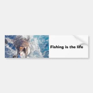 Fiske är livet bildekal