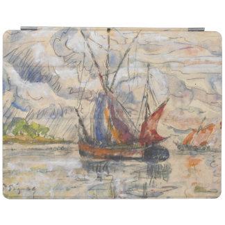 Fiskebåtar i La Rochelle, c.1919-21 iPad Skydd