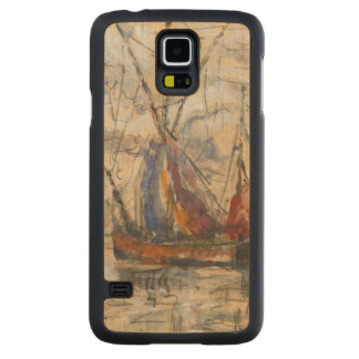 Fiskebåtar i La Rochelle, c.1919-21 Maple Galaxy S5 Case
