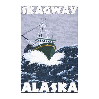 Fiskebåtplats - Skagway, Alaska Canvastryck