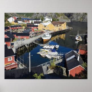 Fiskeläge Nusfjord. Rorbueren, som Print