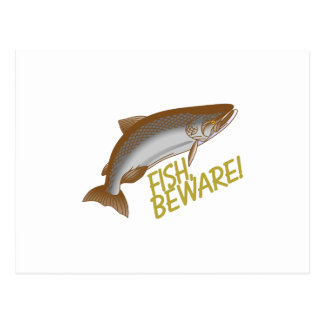 Fisken akta sig vykort