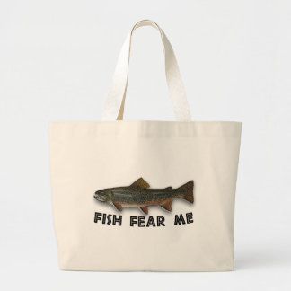 Fisken fruktar mig roliga fiskesportar jumbo tygkasse