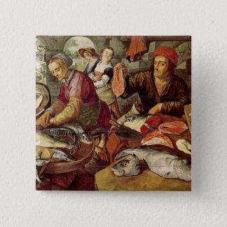 Fisken marknadsför standard kanpp fyrkantig 5.1 cm