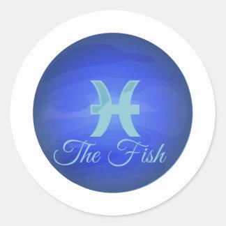 Fisken Runt Klistermärke