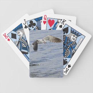 Fiskmås som fångar mat leka kort spelkort