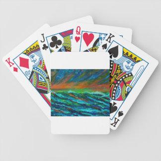Fiskmåsar över hav spelkort
