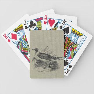 Fiskmåsar på OatmealBurlap Spelkort