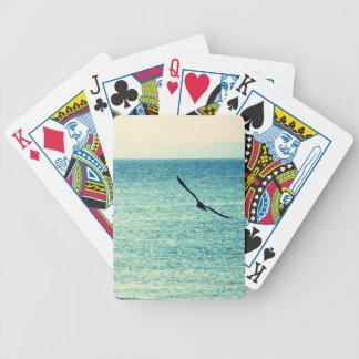 Fiskmåsar som leker kort spelkort