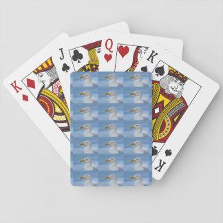 Fiskmåsdesign som leker kort casinokort