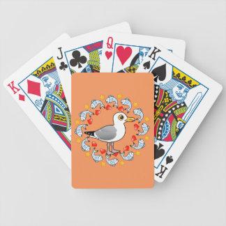 Fiskmåsen cirklar av kärlek spelkort