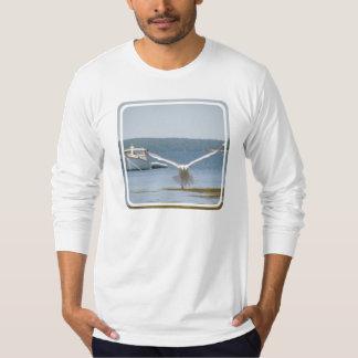 Fiskmåsmanar T-tröja för långärmad T-shirt