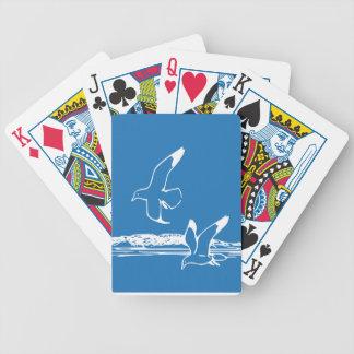 Fiskmåspacke av att leka kort spelkort