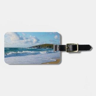 Fistral strand Newquay Cornwall England Bagagebricka