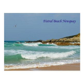 Fistral strand Newquay Cornwall England Vykort
