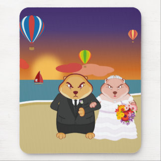 Fisty & Snarkhilda som gifta sig Mousepad - lodrät Musmattor
