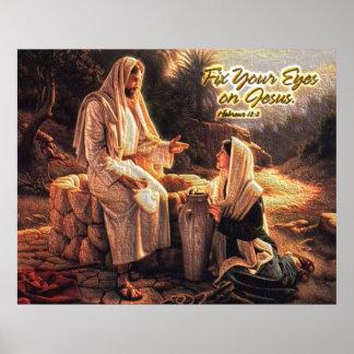 Fixa dina ögon på Jesus 1 Poster