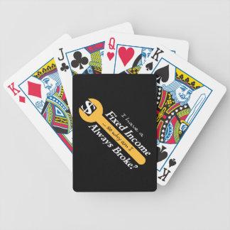 Fixad inkomst/alltid fattiga leka kort - guld spelkort