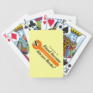 Fixad inkomst/alltid fattiga leka kort - orange spelkort