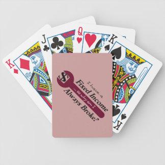 Fixad inkomst/alltid fattiga leka kort - plommon spelkort
