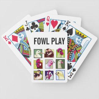 Fjäderfäa fåglar: Fåglar (höna, anka, gås, kalkon) Spelkort