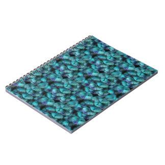 Fjädrar för gudinnaIsis-blått Anteckningsbok Med Spiral