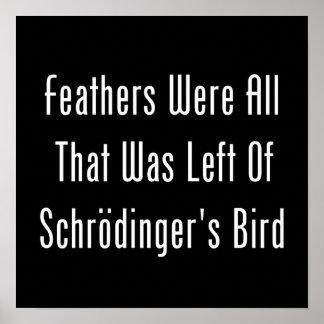 Fjädrar var alla som lämnades affischer