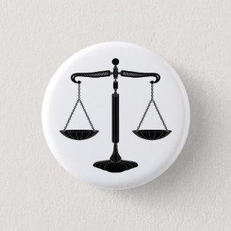 Fjäll av rättvisa flott | mini knapp rund 3.2 cm