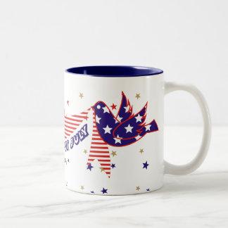 Fjärde 4th av Juli kaffe koppar