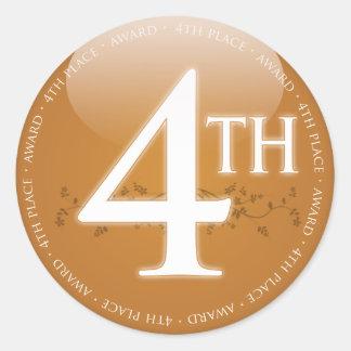 Fjärde 4th) utmärkelse för ställe ( runt klistermärke