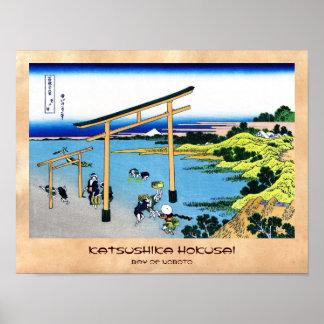 Fjärden av Noboto Katsushika Hokusai Fuji beskådar Poster