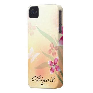 Fjäril & blommor Case-Mate iPhone 4 fodraler