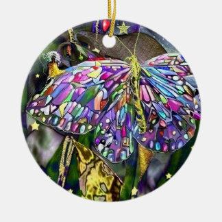 Fjäril för nytt år! julgransprydnad keramik