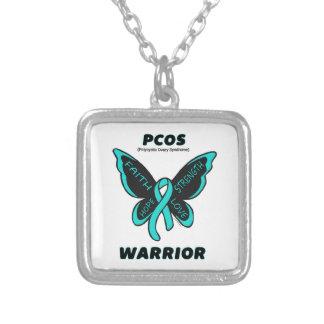 Fjäril/krigare… PCOS Silverpläterat Halsband