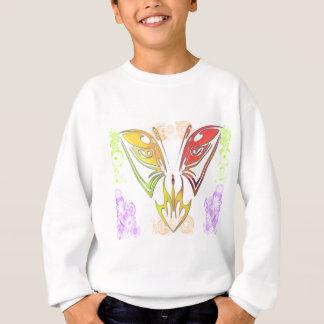 Fjäril med blommor tröjor