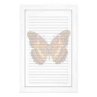 Fjäril med spridd vingar brevpapper