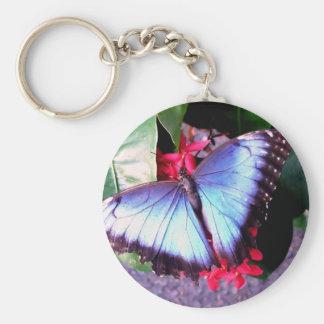 Fjäril Rund Nyckelring