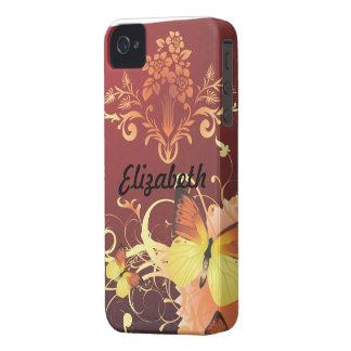 Fjäril och blommor Case-Mate iPhone 4 skydd